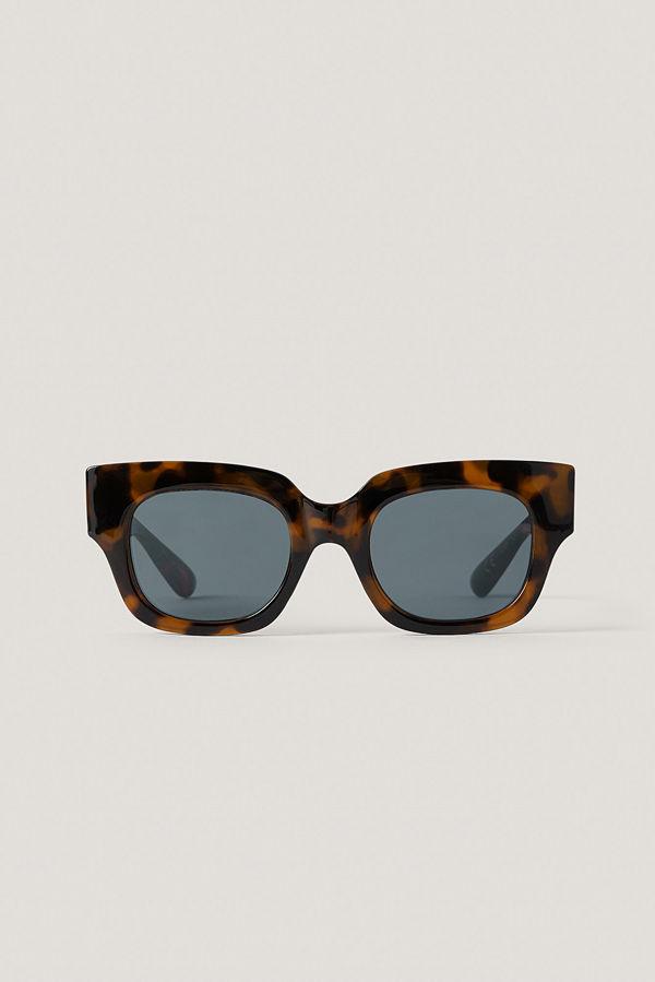 Mango Solglasögon Med Fyrkantiga Bågar brun