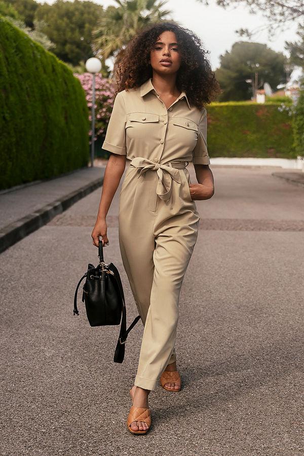 Paola Locatelli x NA-KD Jumpsuit I Cargomodell beige
