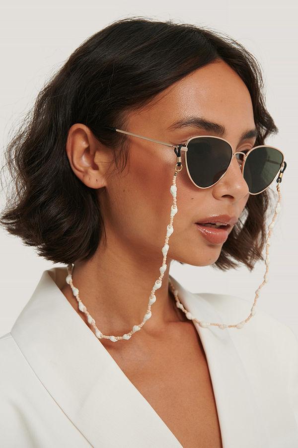 Mango Halsband Med Färgade Snäckskal vit