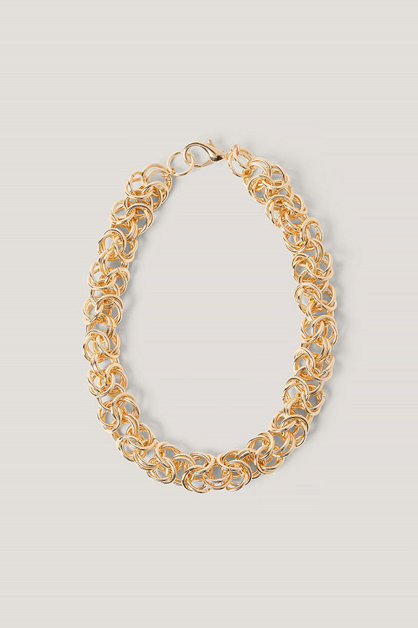 NA-KD Accessories smycke Halsband Med Tvinnade Kedjor guld