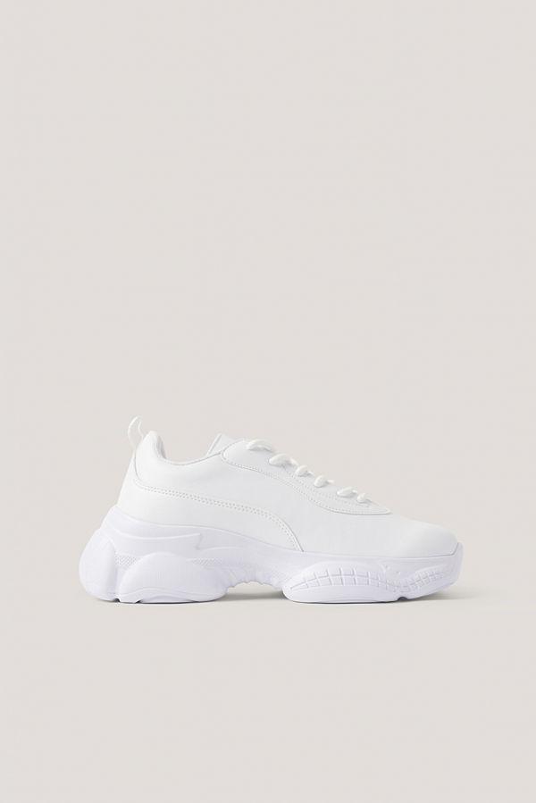 NA-KD Shoes Gympaskor Med Smal, Grafisk Sula vit