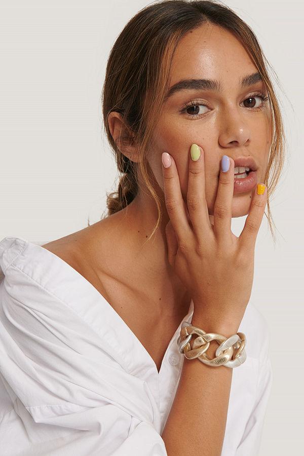 NA-KD Accessories smycke Chunky Tvåfärgat Armband multicolor