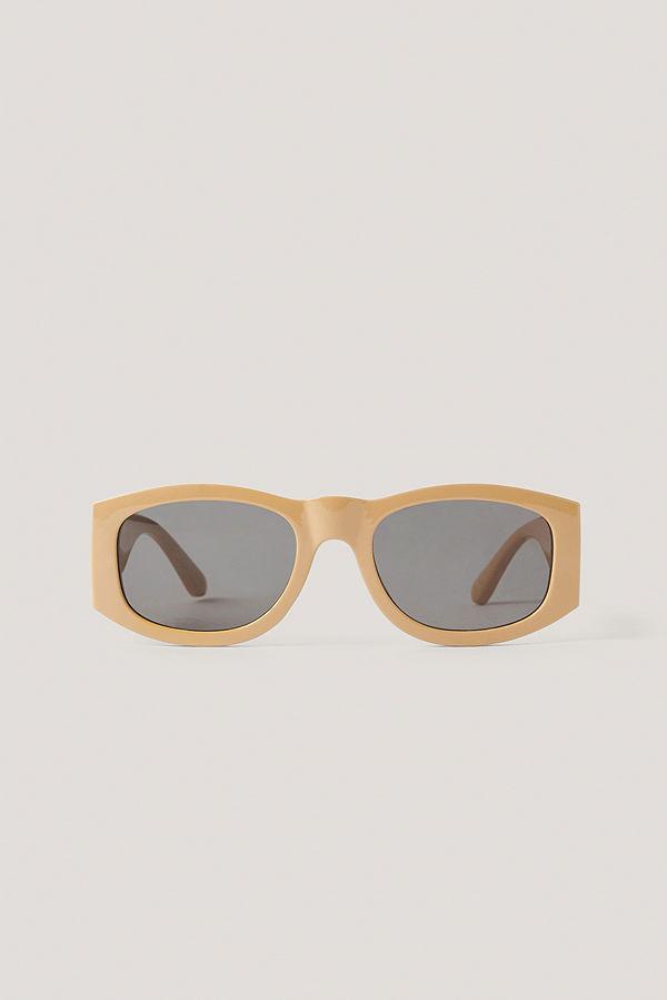 Mango Solglasögon Med Runda Bågar beige