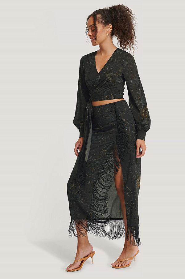 NA-KD Trend Midiklänning Med Sprund I Sidan svart