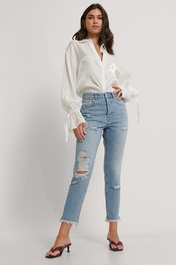 NA-KD Reborn Ekologiska Jeans blå