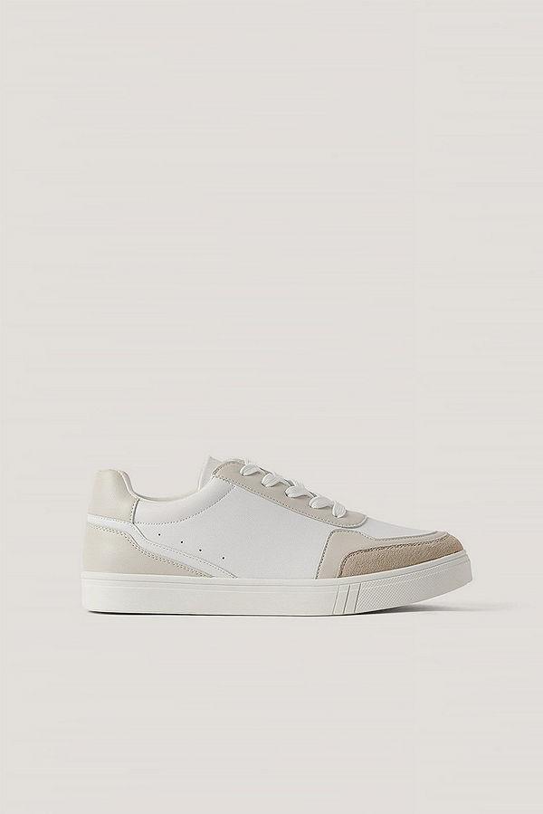 NA-KD Shoes Gympaskor I Mockaimitation vit