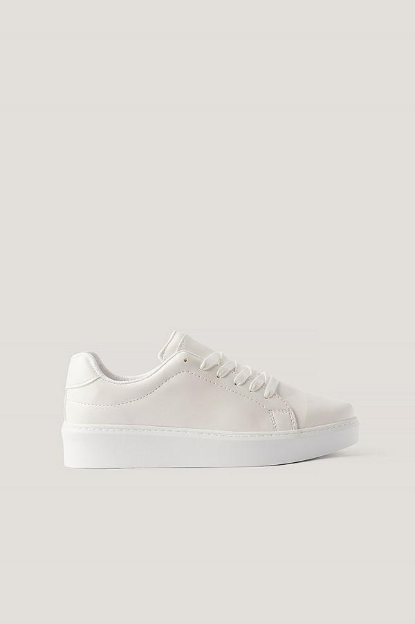 NA-KD Shoes Gympaskor vit