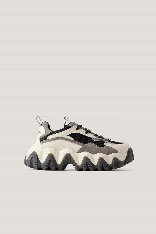 NA-KD Shoes Rundade Grova Joggingskor grå