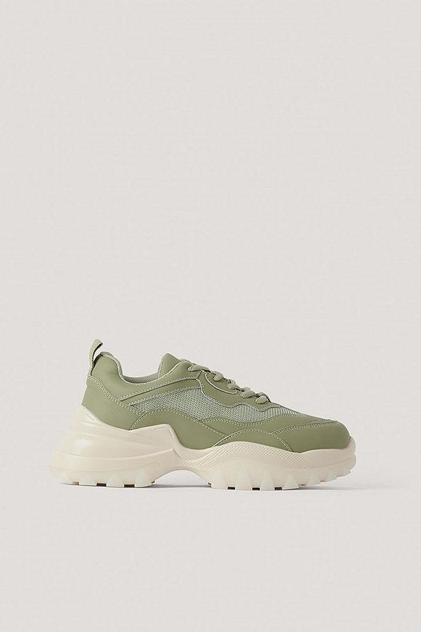 NA-KD Shoes Gympaskor Med Gummisula grön