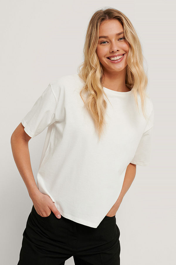 NA-KD Reborn Ekologisk Oversize T-shirt vit