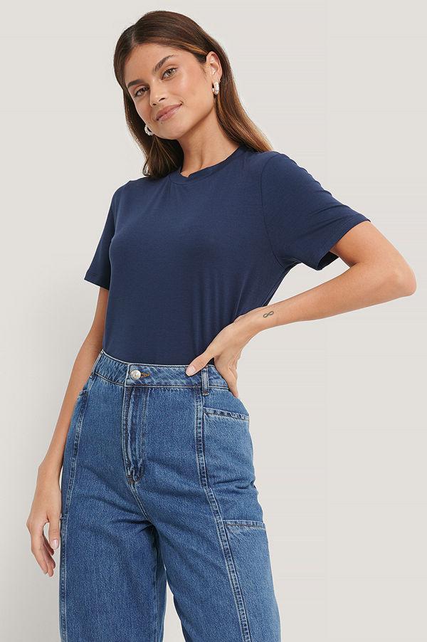 NA-KD Basic T-Shirt blå