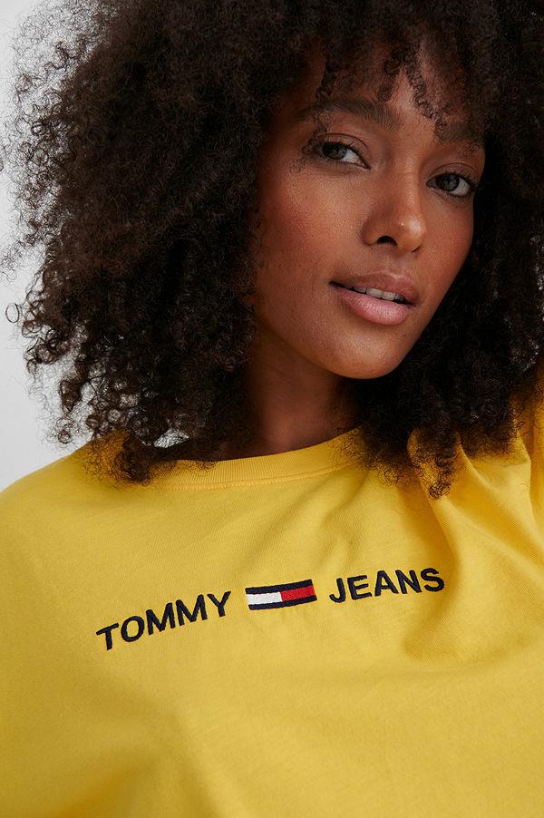 Tommy Jeans Modern Linear Logo T-Shirt gul