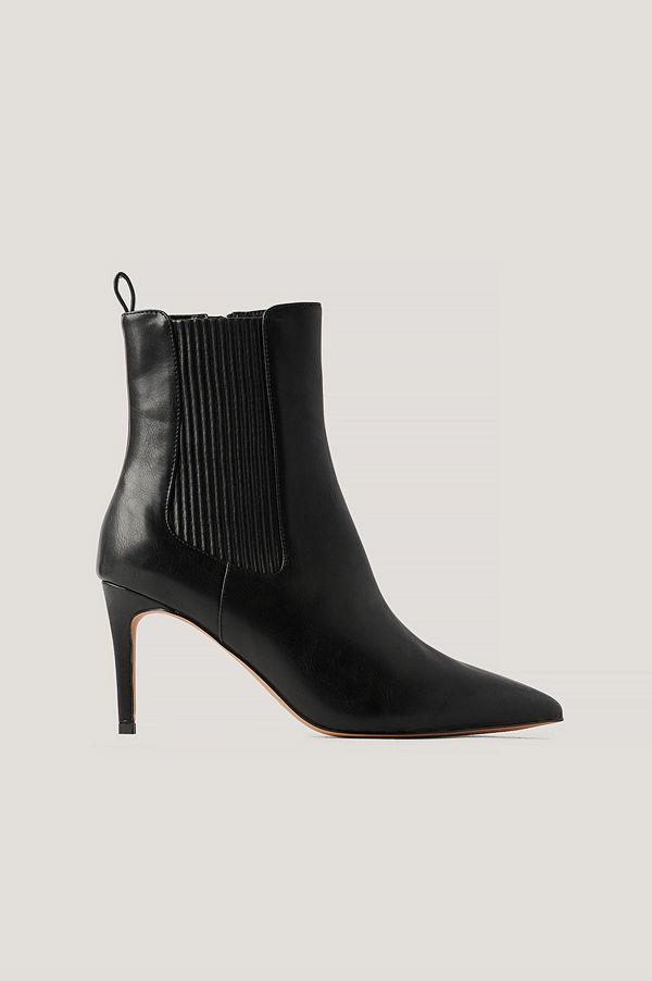 NA-KD Shoes Stilettboots Med Elastisk Detalj svart