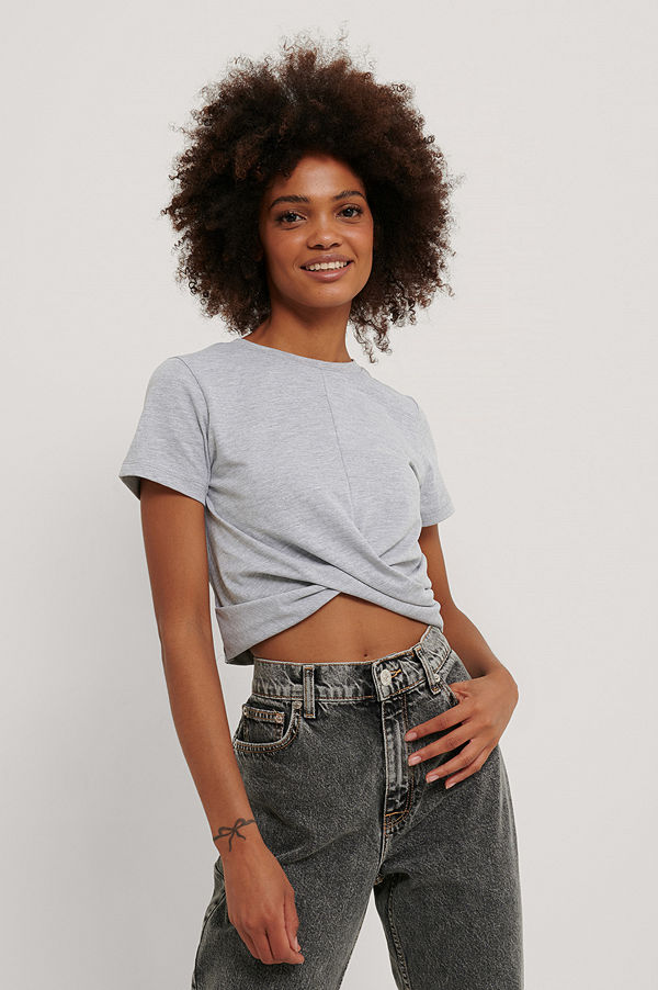 Trendyol Croppad T-Shirt grå