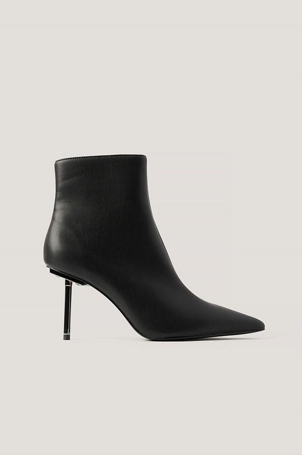 NA-KD Shoes Spetsiga Stövlar Med Hög Klack svart