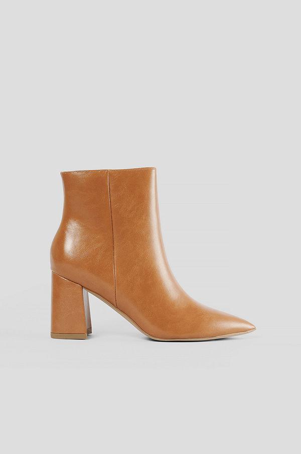 NA-KD Shoes Låga Lackstövlar brun