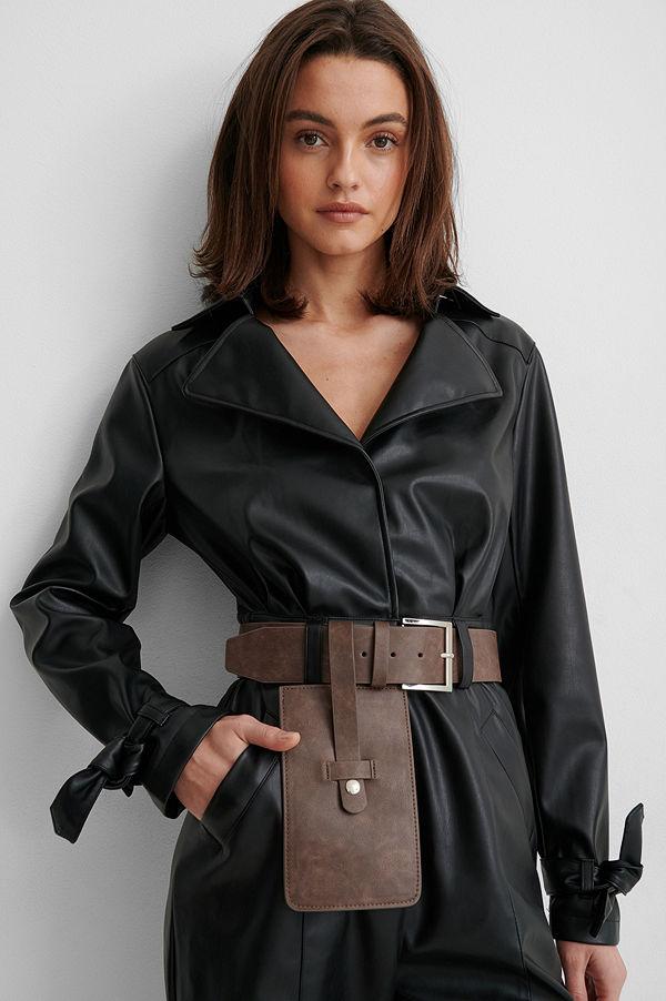 Gine Margrethe X NA-KD Bälte brun