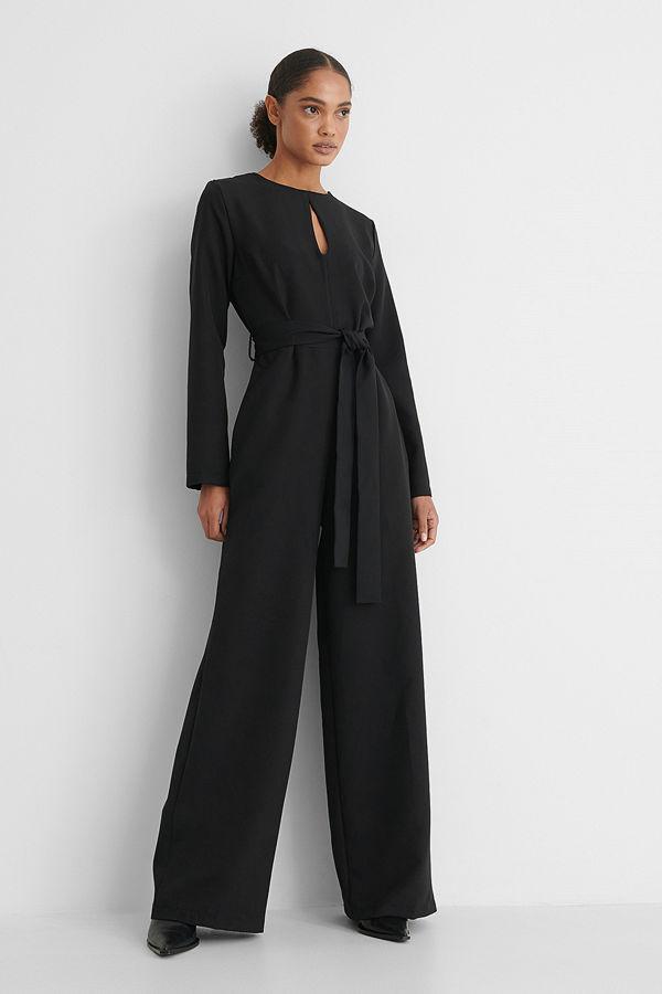 Trendyol Jumpsuit Med Bälte svart