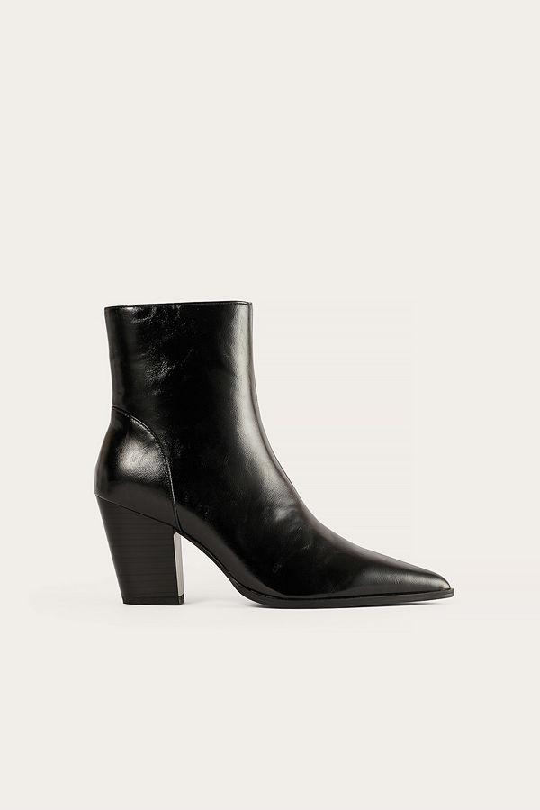 NA-KD Shoes Stövletter Med Klack svart