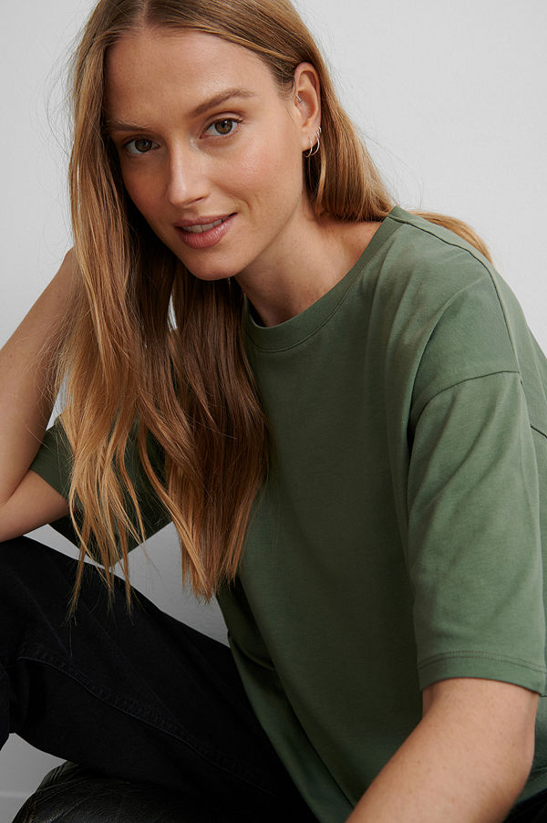 NA-KD Ekologisk Oversize T-shirt grön