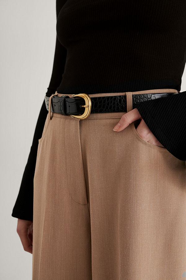 NA-KD Accessories Bälte Med Vintagelook svart