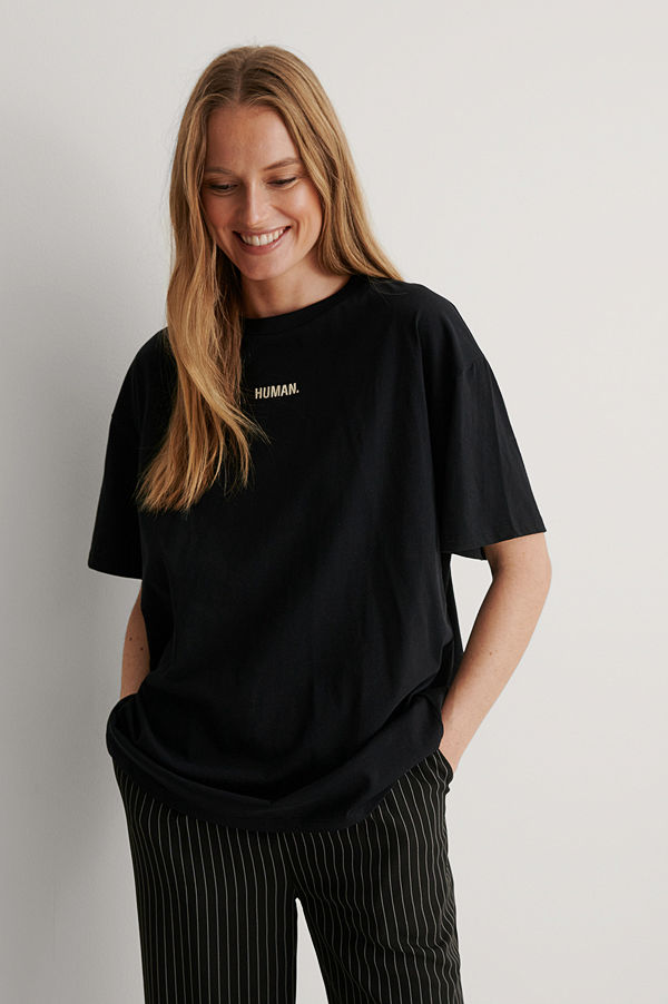 NA-KD Reborn Ekologisk T-shirt svart