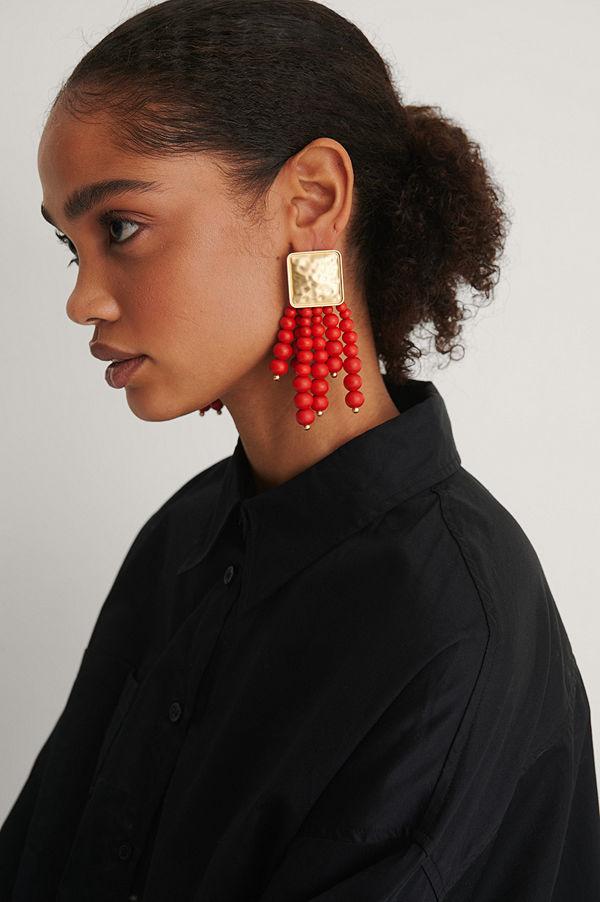 NA-KD Accessories smycke Örhängen röd guld