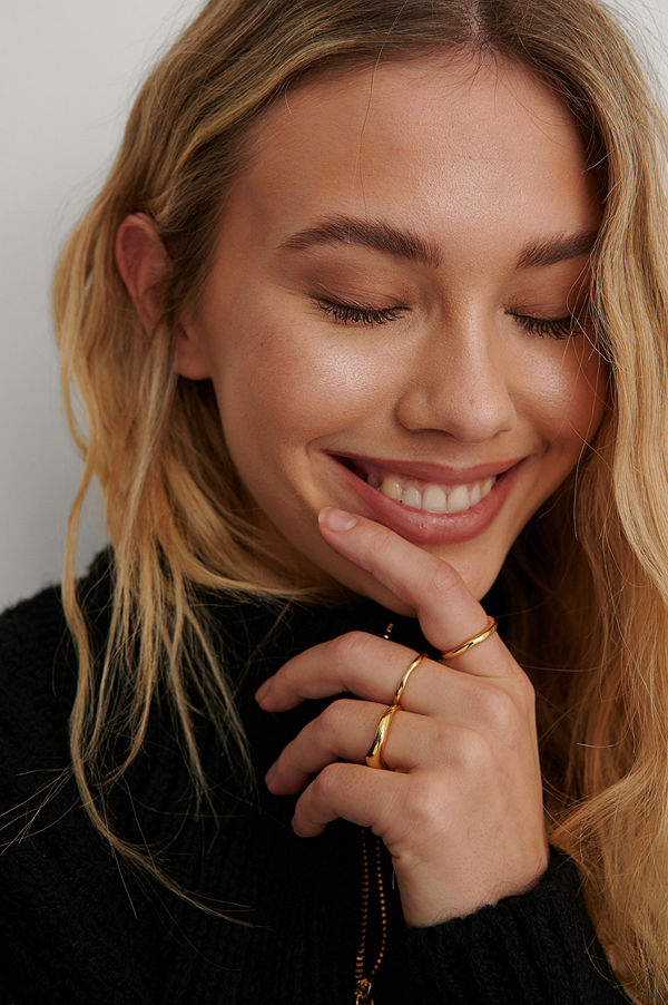 NA-KD Accessories smycke Ringset guld
