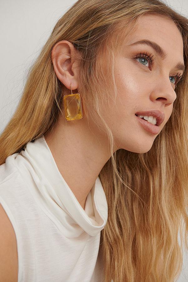 NA-KD Accessories smycke Örhängen gul