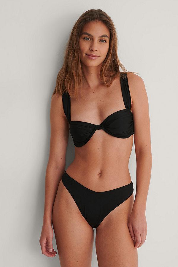 NA-KD Reborn Recycled Bikiniunderdel svart