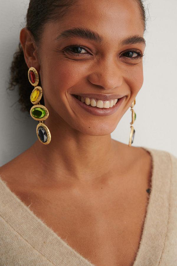 NA-KD Accessories smycke Droppörhängen multicolor