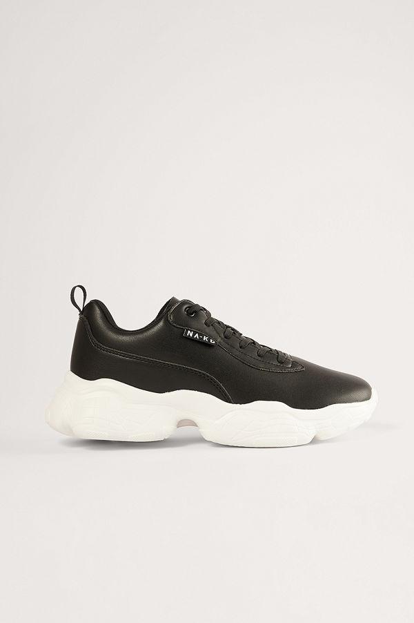 NA-KD Shoes Chunky Sneakers svart