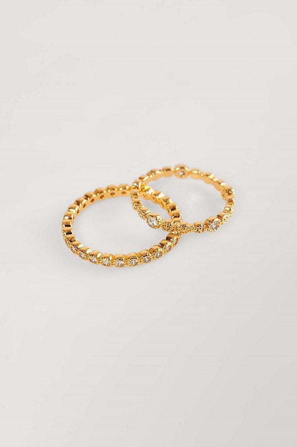 NA-KD Accessories smycke Guldpläterade 2-pack Ringar guld