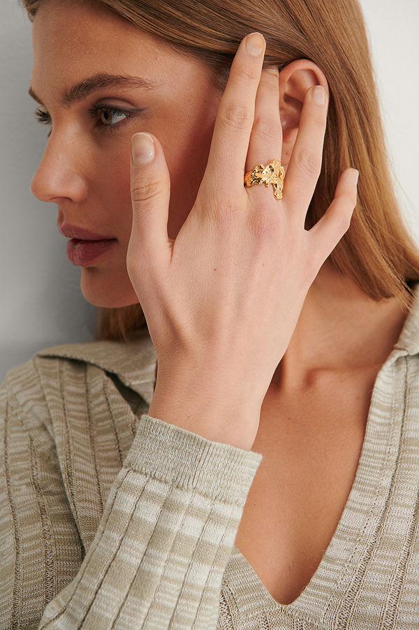 NA-KD Accessories smycke Guldpläterad Chunky Ring guld