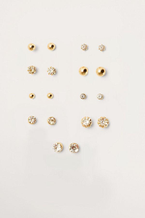 NA-KD Accessories smycke Multipack Stiftörhängen (9 Set) guld