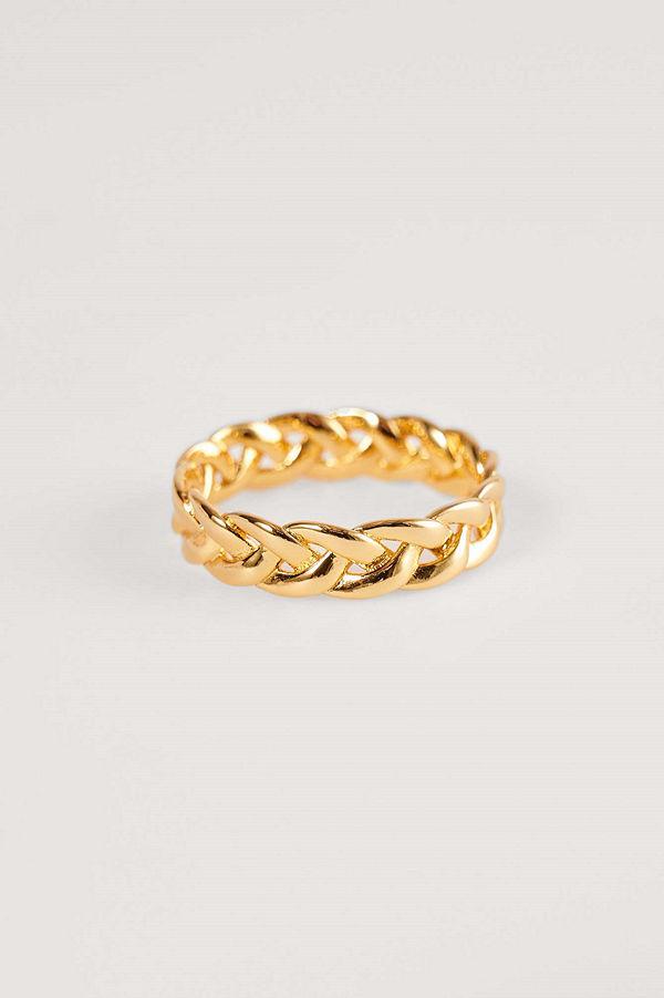 NA-KD Accessories smycke Guldplätering Ring Med Struktur guld