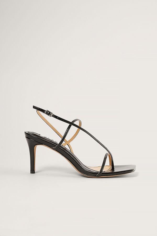 NA-KD Shoes Högklackade Remsandaler svart