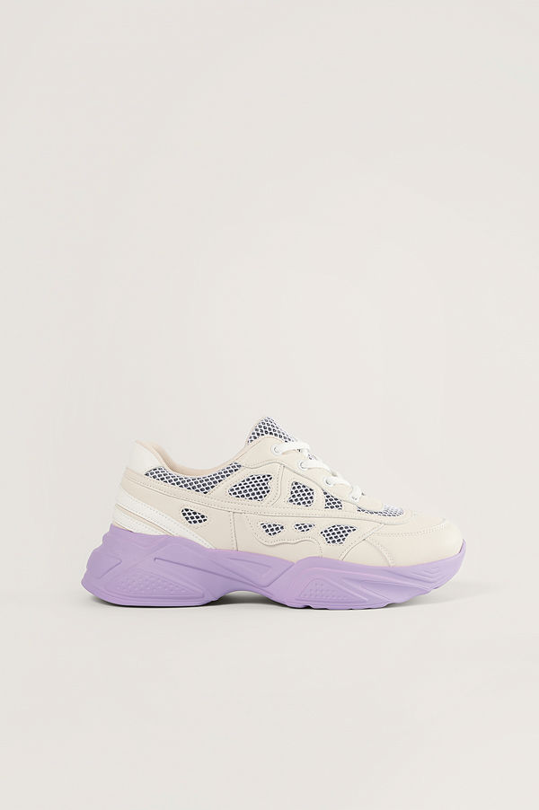 NA-KD Shoes Structured Upper Sneakers lila