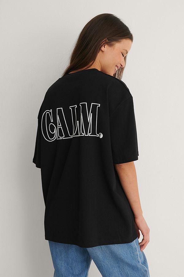 NA-KD Trend Ekologisk T-shirt Med Citattryck svart