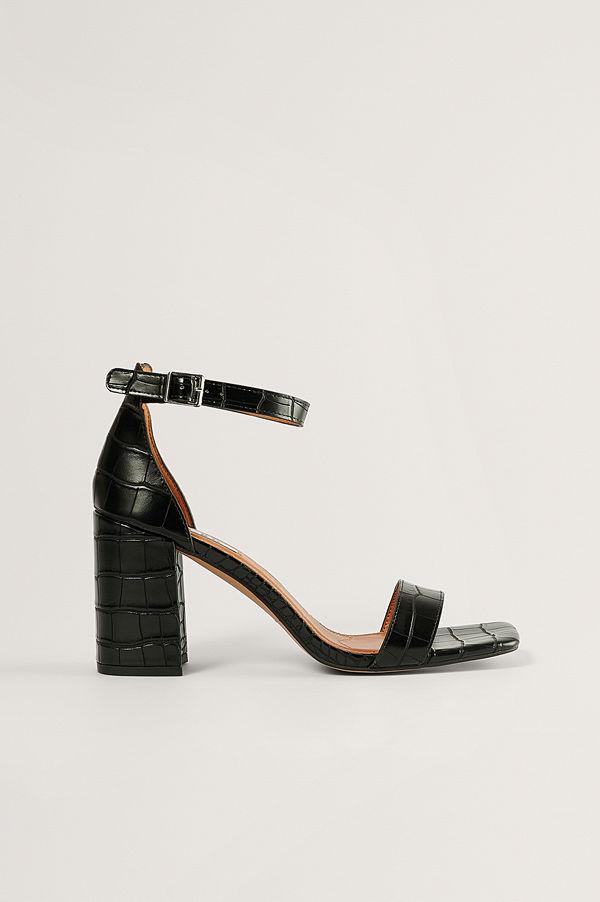 NA-KD Shoes Sandal Med Blockklack svart