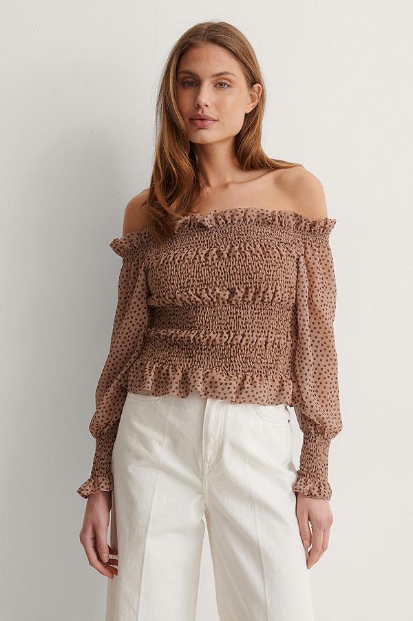 Trendyol Off Shoulder-Blus brun