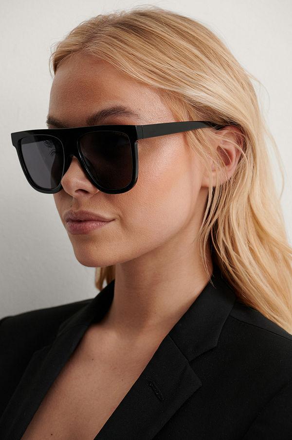NA-KD Accessories Solglasögon Med Rak Framsida svart