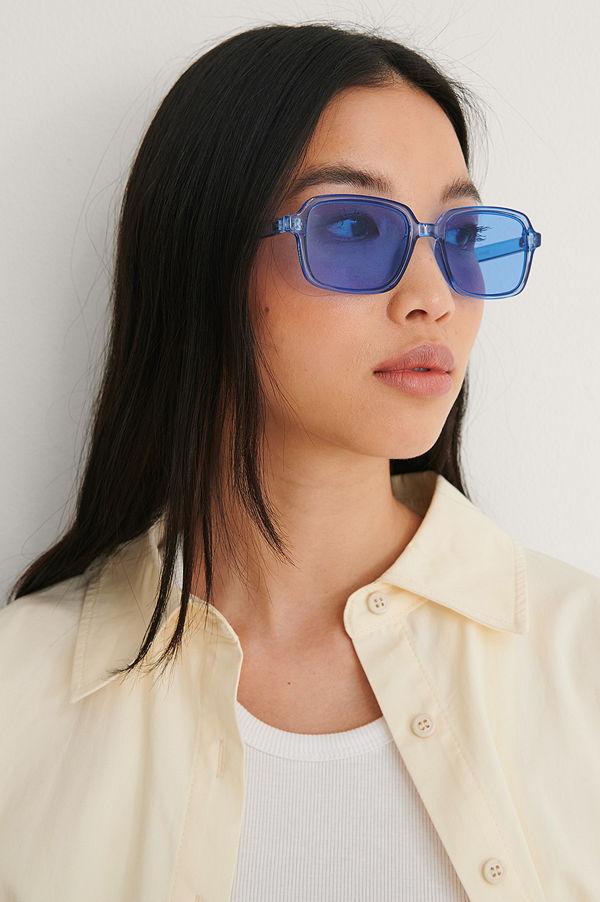 NA-KD Accessories Retro Solglasögon Med Smala Bågar blå