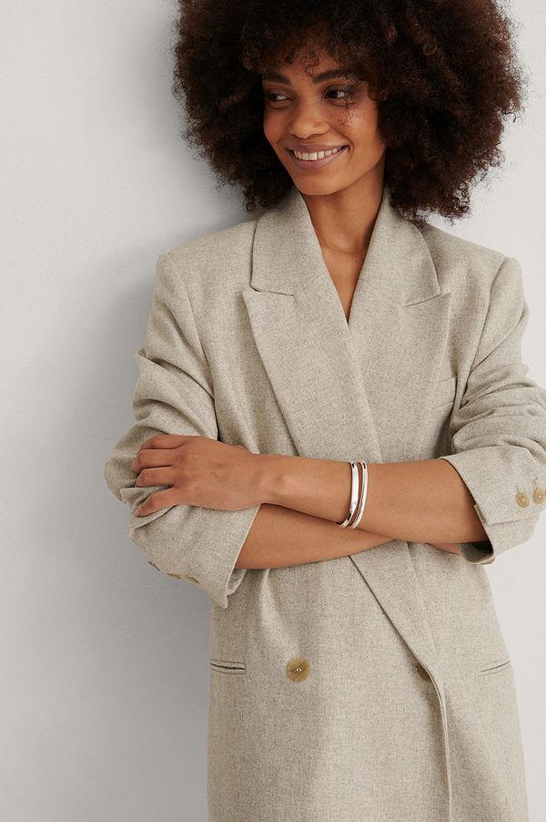 Mango smycke Armbandsset silver