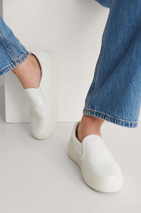 NA-KD Shoes Slip-In-Träningssko vit