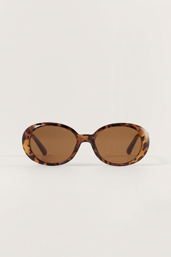NA-KD Accessories Rundade Solglasögon brun
