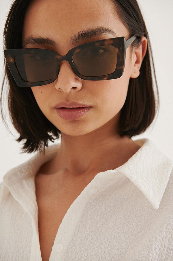 NA-KD Accessories Solglasögon brun