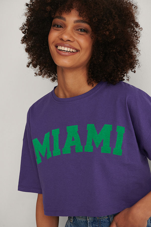 Trendyol Tryckt T-shirt lila