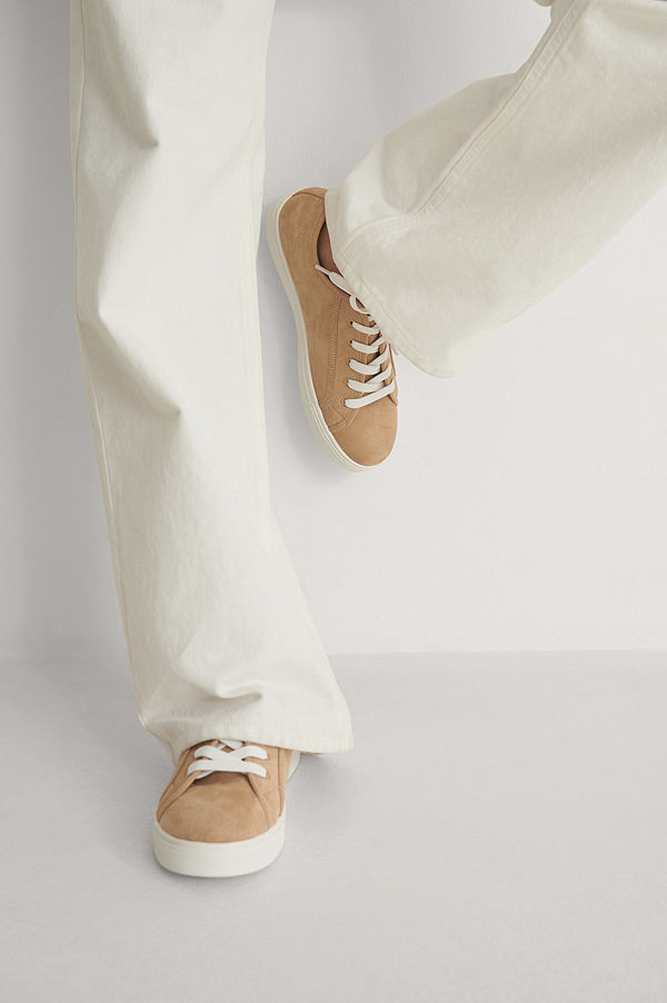 NA-KD Shoes Basic Lace up Sneakers beige