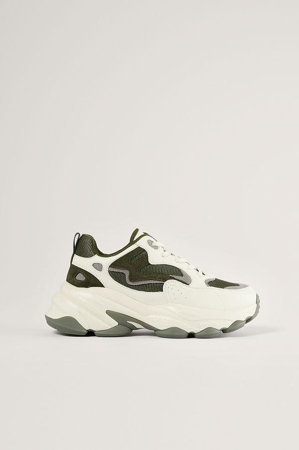 NA-KD Shoes Chunky Gympaskor Med Kontrastdetalj grön